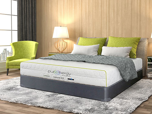 green light pillow with pure energy natural mattress
