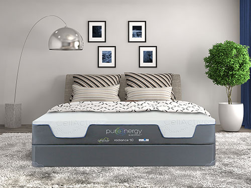 modern bed room design with pure energy mattress