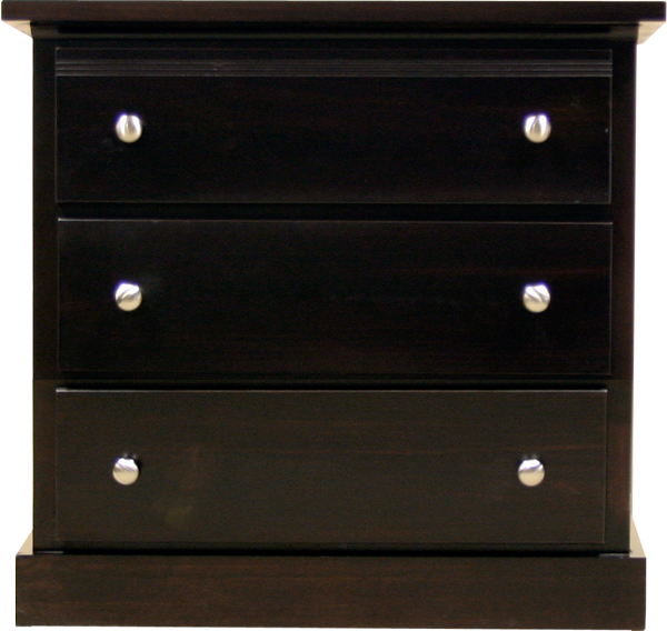 Pine drawer chest dark stained