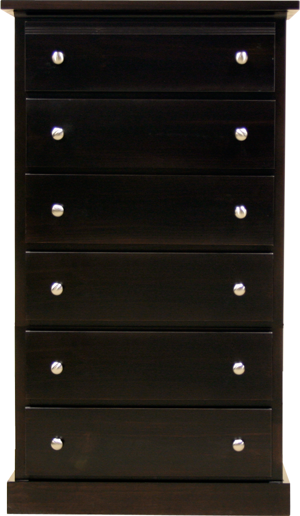 Pine chest dark stained