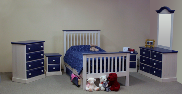 kid bed pine