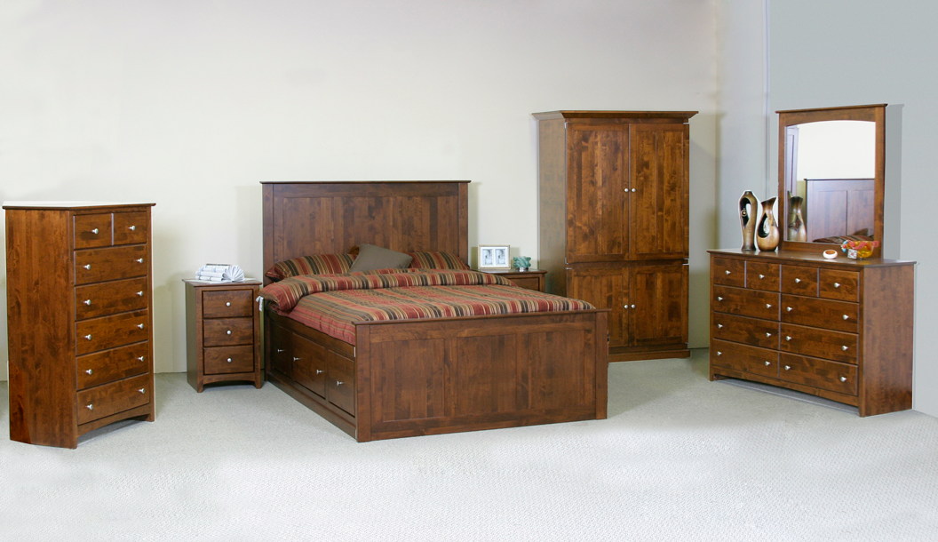 Alder wood bedroom suite furniture collection