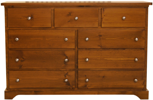 Pine bedroom clothes chest with drawers