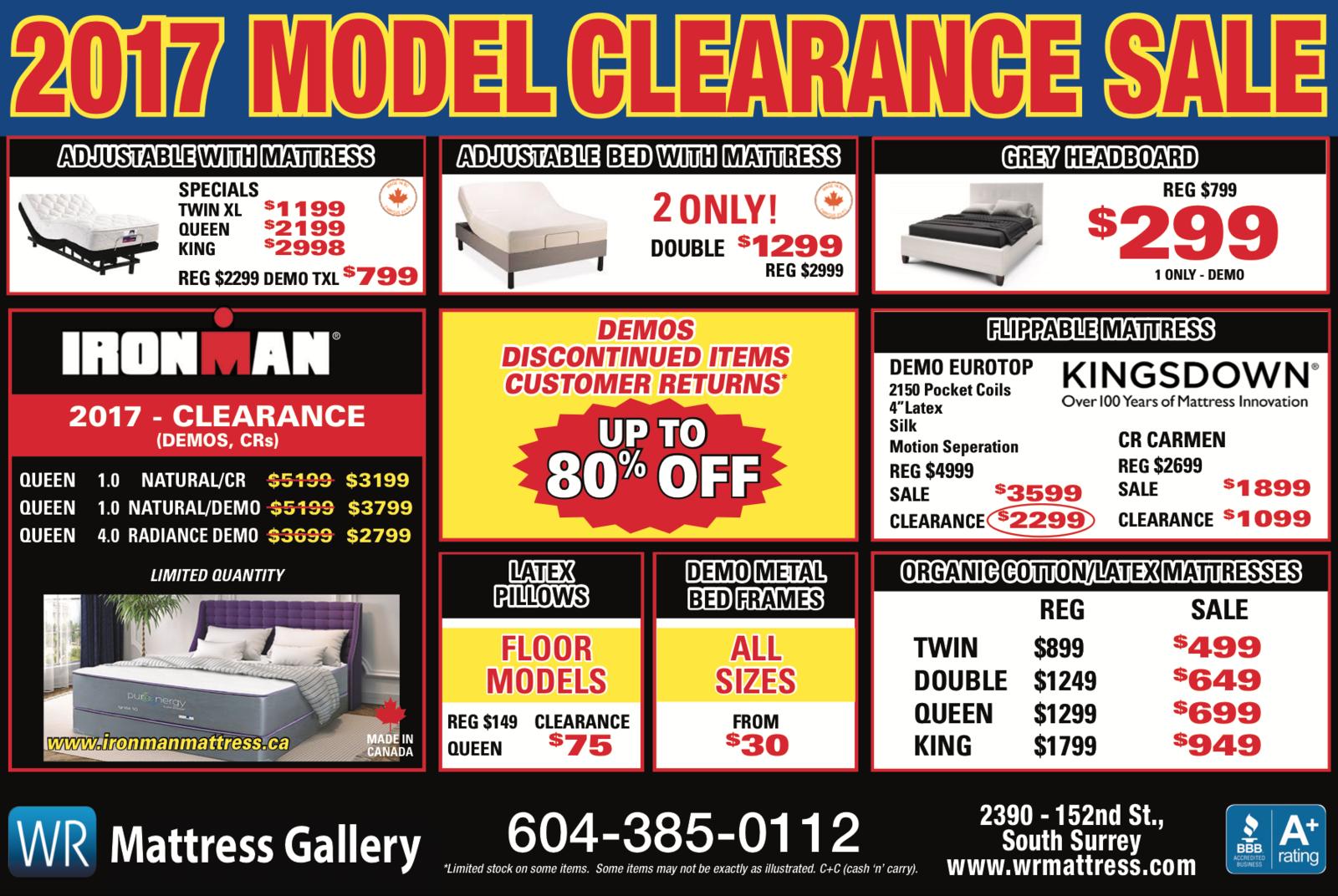 mattress sale flyer