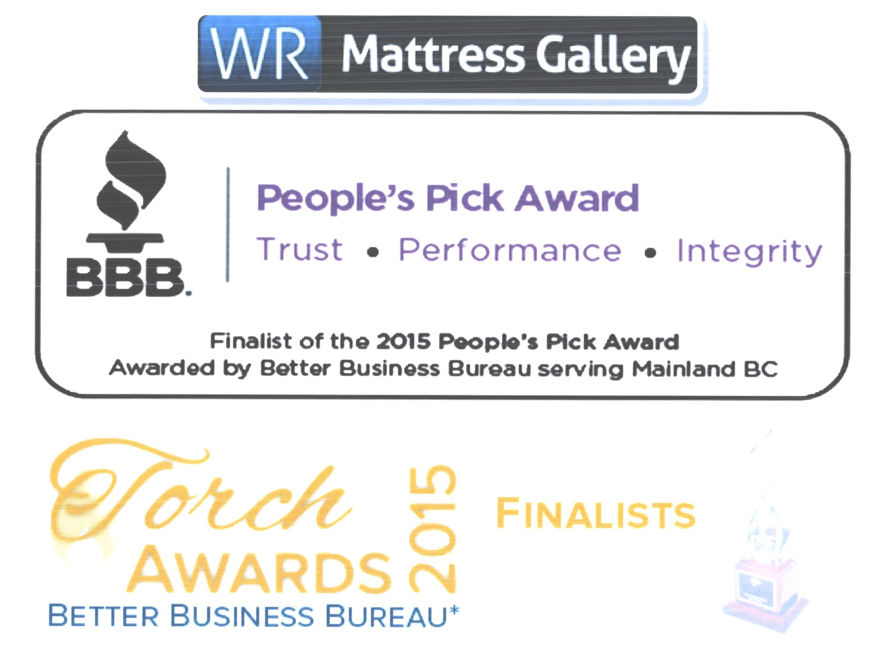 People's pick award wr mattress