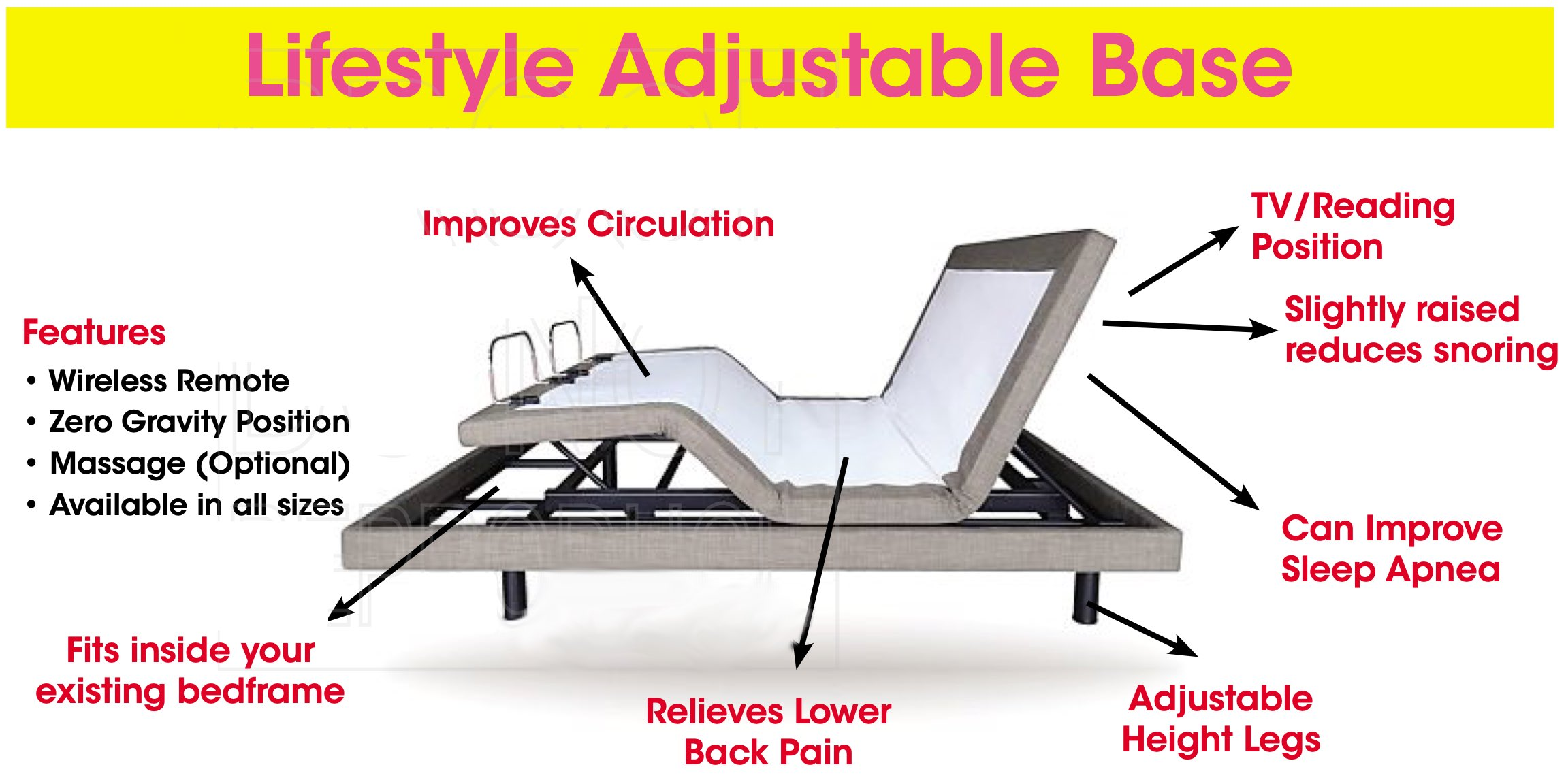 lifestyle adjustable base
