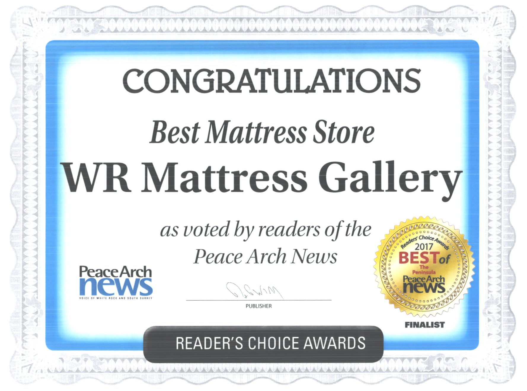 Best mattress store awards wr mattress