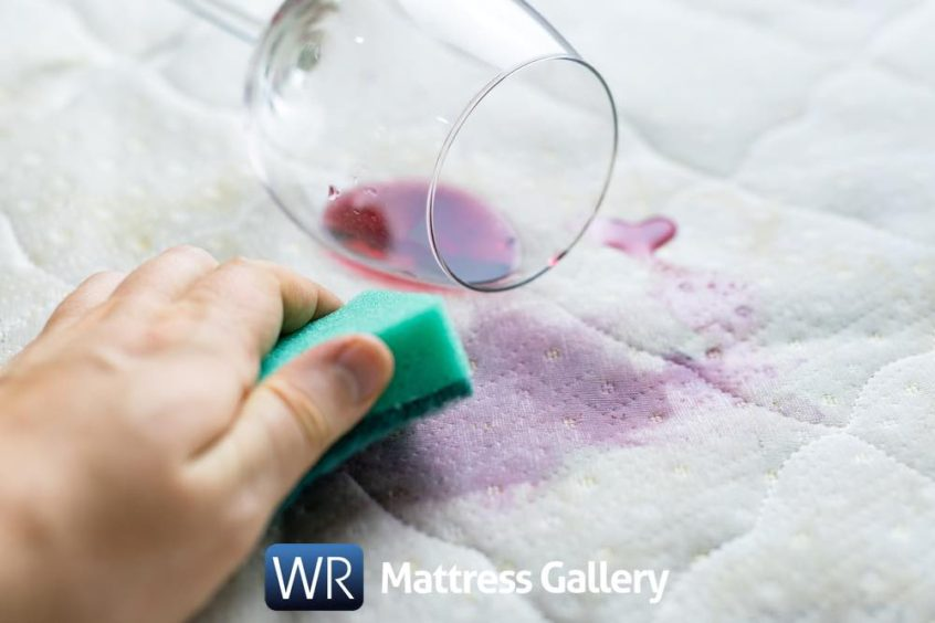 easiest ways to get wine stain out of mattress